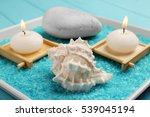 beautiful spa composition on... | Shutterstock . vector #539045194