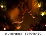 portrait of couple in the dark... | Shutterstock . vector #539046490