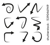 arrow icons set on white... | Shutterstock .eps vector #539046949