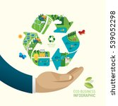eco business friendly save... | Shutterstock .eps vector #539052298