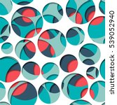 abstract overlap circle pattern.... | Shutterstock .eps vector #539052940