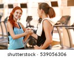 team fitness. beautiful fit... | Shutterstock . vector #539056306