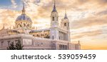 the almudena cathedral is the... | Shutterstock . vector #539059459