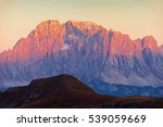 evening panoramic view of mount ... | Shutterstock . vector #539059669