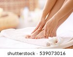 female feet in spa salon ... | Shutterstock . vector #539073016