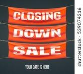 store closing sale vector... | Shutterstock .eps vector #539074216