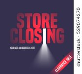 store closing sale vector... | Shutterstock .eps vector #539074270