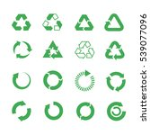 recycle  raw materials icons... | Shutterstock . vector #539077096