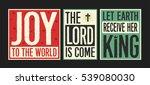 retro christian christmas card... | Shutterstock .eps vector #539080030