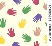 hand  pattern  print  trace ... | Shutterstock . vector #539080606