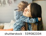 family time.happy mother  hugs... | Shutterstock . vector #539082334