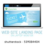 e commerce shop airplane... | Shutterstock .eps vector #539084404