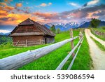 stunning summer alpine...   Shutterstock . vector #539086594