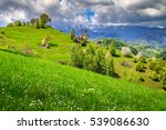 spring alpine landscape with... | Shutterstock . vector #539086630