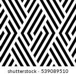 Stock vector the geometric pattern by stripes seamless vector background black and white texture graphic 539089510