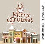 christmas card. merry christmas ... | Shutterstock .eps vector #539089834