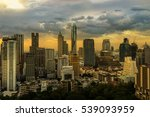 abstract sunset on cityscape... | Shutterstock . vector #539093959