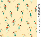 seamless pattern with figures... | Shutterstock .eps vector #539094124
