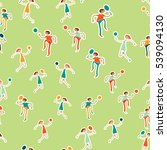 seamless pattern with figures... | Shutterstock .eps vector #539094130