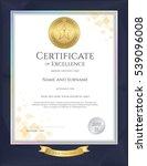 elegant portrait certificate... | Shutterstock .eps vector #539096008