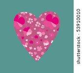 floral heart   Shutterstock .eps vector #53910010