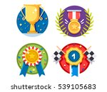 set of rewards icons | Shutterstock .eps vector #539105683