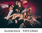 group of friends at club lying... | Shutterstock . vector #539113063