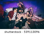 group of friends at club lying... | Shutterstock . vector #539113096