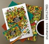 cartoon cute colorful vector... | Shutterstock .eps vector #539117983