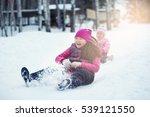 winter sledding | Shutterstock . vector #539121550