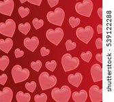 cartoon heart pattern love...