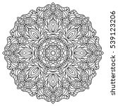 mandala. coloring book pages.... | Shutterstock .eps vector #539123206