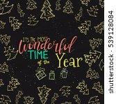 merry christmas lettering... | Shutterstock .eps vector #539128084