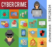 internet security and cyber... | Shutterstock .eps vector #539128234