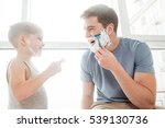 picture of cute father and son... | Shutterstock . vector #539130736
