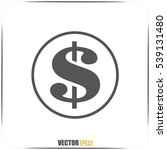 dollar sign icon | Shutterstock .eps vector #539131480