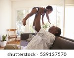 grandfather and grandson... | Shutterstock . vector #539137570