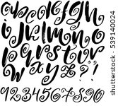 hand drawn font made by dry... | Shutterstock .eps vector #539140024