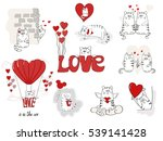 cute cats in love. valentines...