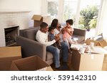 family take a break on sofa... | Shutterstock . vector #539142310