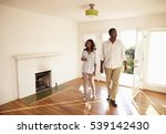 excited couple explore new home ... | Shutterstock . vector #539142430
