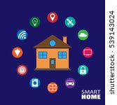 smart home illustration concept | Shutterstock .eps vector #539143024