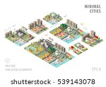 set of isolated isometric... | Shutterstock .eps vector #539143078