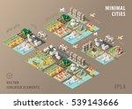 set of isolated isometric... | Shutterstock .eps vector #539143666