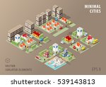 set of isolated isometric... | Shutterstock .eps vector #539143813