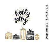 merry christmas card. vector...   Shutterstock .eps vector #539153476