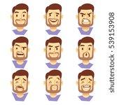 bearded hipster man character... | Shutterstock . vector #539153908