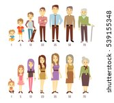 people generations at different ... | Shutterstock . vector #539155348