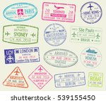 international travel visa... | Shutterstock . vector #539155450