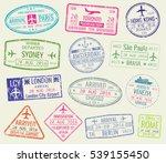 international travel visa... | Shutterstock . vector #539155450